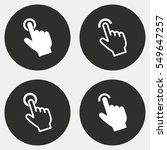 touch vector icons set. white... | Shutterstock .eps vector #549647257