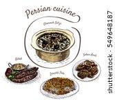 iranian menu colorful... | Shutterstock .eps vector #549648187
