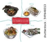 vietnamese menu colorful... | Shutterstock .eps vector #549648313