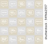 speech bubbles set. | Shutterstock .eps vector #549662557