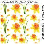 daffodil seamless pattern | Shutterstock .eps vector #549675997
