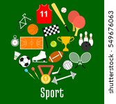 sport symbols and sporting... | Shutterstock .eps vector #549676063