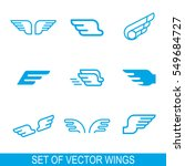 wings vector icons set. wing... | Shutterstock .eps vector #549684727