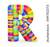 3d render letter r made with...   Shutterstock . vector #549702373