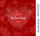 happy valentine's day vintage... | Shutterstock .eps vector #549707227