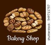 bakery shop emblem in shape of...   Shutterstock .eps vector #549711757