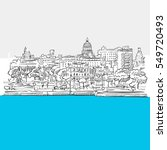 havana  cuba  panorama  blue...   Shutterstock .eps vector #549720493