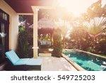 luxury villa with pool interior ... | Shutterstock . vector #549725203