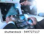 designer businessman hand using