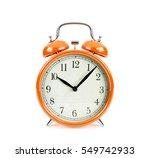 orange alarm clock isolated on