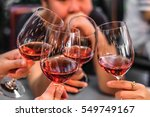 Small photo of People Drink wine enjoy to night, Business People Party Celebration Success Concept