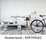 white vintage style. 3d render... | Shutterstock . vector #549749683