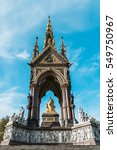 Small photo of London, United Kingdom - October 17, 2016: Albert Memorial in Kensington Gardens. It was commissioned by Queen Victoria in memory of her husband, Prince Albert.