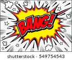 bang comic speech bubble.doodle ... | Shutterstock .eps vector #549754543
