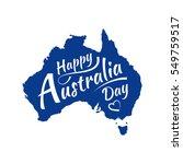happy australia day lettering ... | Shutterstock .eps vector #549759517