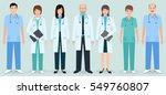 hospital staff. set of seven... | Shutterstock .eps vector #549760807