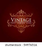 floral vintage background in... | Shutterstock .eps vector #54976516