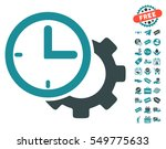 time setup gear pictograph with ...