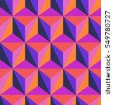 seamless geometric retro pattern   Shutterstock .eps vector #549780727