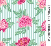 floral vector background with  ... | Shutterstock .eps vector #549786217