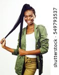 young pretty african american...   Shutterstock . vector #549793537