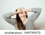 despair woman | Shutterstock . vector #549799573