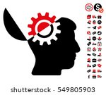 open mind gear pictograph with... | Shutterstock .eps vector #549805903