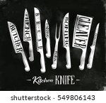 poster kitchen meat cutting... | Shutterstock .eps vector #549806143