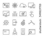 seo and web development icon... | Shutterstock . vector #549819703