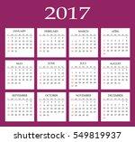 calendar for 2017 year.  flat... | Shutterstock . vector #549819937
