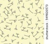 seamless dandelion pattern... | Shutterstock .eps vector #549820573