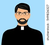illustration of a priest icon... | Shutterstock .eps vector #549826327