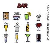 bar flat icons set. vector... | Shutterstock .eps vector #549827797