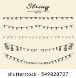 set of hand drawn string lights ... | Shutterstock .eps vector #549828727