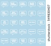 speech bubbles set. | Shutterstock .eps vector #549830407