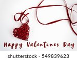 happy valentines day text  on... | Shutterstock . vector #549839623