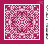 die cut ornamental panel with... | Shutterstock .eps vector #549842647