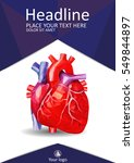 medical book cover design a4.... | Shutterstock .eps vector #549844897