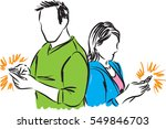 couple man and woman with... | Shutterstock .eps vector #549846703