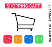 shopping cart icon isolated on...