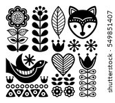 finnish folk art pattern  ... | Shutterstock .eps vector #549851407