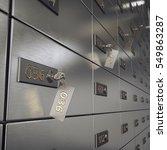 3d rendering safe deposit boxes ...   Shutterstock . vector #549863287