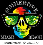 skull t shirt graphic design... | Shutterstock .eps vector #549863377
