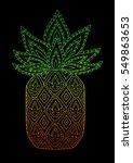 doodle hand drawn pineapple... | Shutterstock .eps vector #549863653