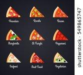 make create pizza decorative... | Shutterstock .eps vector #549865747