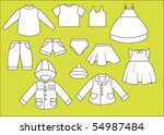 a set of different types of... | Shutterstock . vector #54987484