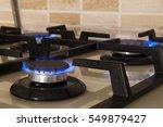 closeup shot of blue fire from...   Shutterstock . vector #549879427