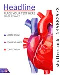 book cover low poly human heart.... | Shutterstock .eps vector #549882973