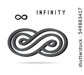 infinity symbol icon on a white ... | Shutterstock .eps vector #549883417