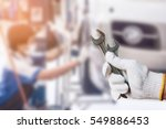 car repair service centre... | Shutterstock . vector #549886453